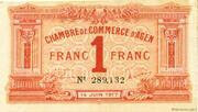 1 Franc - Chambre de Commerce d'Agen (47) – obverse