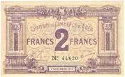 2 Francs - Chambre de Commerce d'Agen (47) – obverse