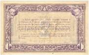2 Francs - Chambre de Commerce d'Agen (47) – reverse