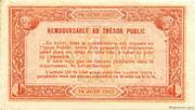1 franc - Chambre de Commerce d'Agen [47] <Filigrane abeilles>> – reverse