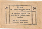 20 Heller (Aggsbach Dorf) -  reverse