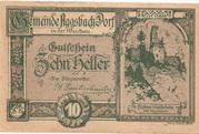10 Heller (Aggsbach Dorf) -  obverse