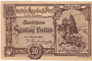 50 Heller (Aggsbach Dorf) -  obverse