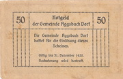 50 Heller (Aggsbach Dorf) – reverse