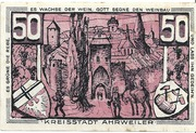 50 Pfennig (redviolett issue) – reverse
