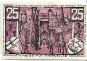 25 Pfennig (redviolett issue) – reverse
