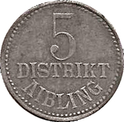 5 Pfennig - Aibling – obverse