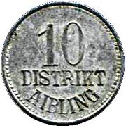10 Pfennig - Aibling – obverse