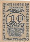 10 Heller (Aigen) – obverse