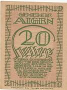 20 Heller (Aigen) – obverse