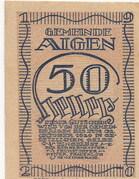 50 Heller (Aigen) – obverse