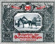 20 Heller (Aigen; Light green issue) – obverse
