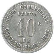 10 Centimes (Aisne) – reverse