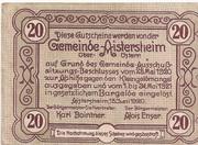 20 Heller (Aistersheim) – reverse