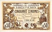 50 Centimes - Chambre de Commerce d'Ajaccio et de Bastia (20) -  obverse