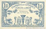 1 Franc - Chambre de Commerce d'Ajaccio et de Bastia (20) – reverse