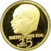 25 Riyals - Rashid (Martin Luther King) -  reverse