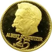 25 Riyals - Rashid (Albert Schweitzer) – reverse