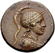 Bronze Æ22 - Menodotos and Sillon – obverse