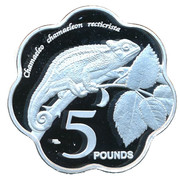 5 Pounds - Elizabeth II (Chameleon) – reverse