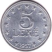 5 Lekë – reverse