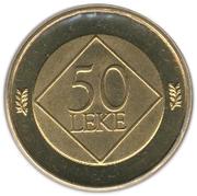 50 Lekë (Jeronim de Rada) -  reverse