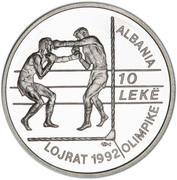 10 Lekë (1992 Summer Olympic Games) -  reverse