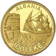 100 Lekë (Durazzo) -  reverse