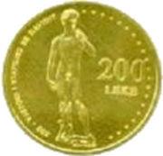 200 Lekë (Michelangelo's David) -  obverse