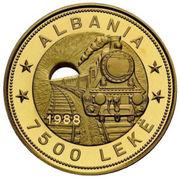 7500 Lekë (Albanian Railroads) – obverse