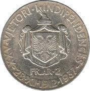 2 Franga Ari - Zog I (25th Anniversary of Independence) – reverse