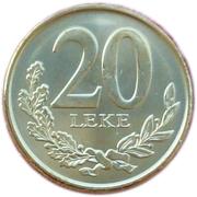 20 Lekë – reverse