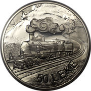 50 Lekë (Locomotives; Essai) -  reverse