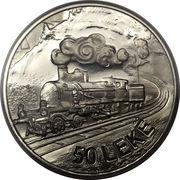 50 Lekë (Locomotives; Essai) – reverse