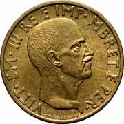 0.05 Lek - Vittorio Emanuele III – obverse