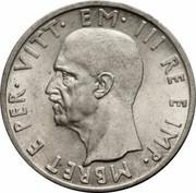 5 Lek - Vittorio Emanuele III – obverse