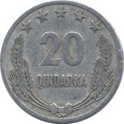 20 Qindarka – reverse