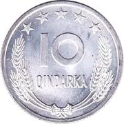 10 Qindarka (25th Anniversary of Albania's Liberation) – reverse