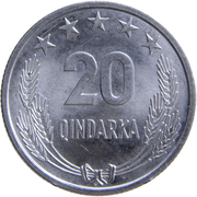 20 Qindarka (25th Anniversary of Albania's Liberation) -  reverse