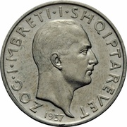 1 Frang Ar - Zog I (25th Anniversary of Independence) – obverse