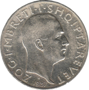 2 Franga Ari - Zog I (25th Anniversary of Independence) -  obverse