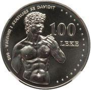 100 Lekë (Michelangelo's David) -  reverse