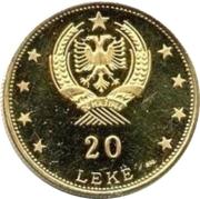 20 Lekë (Skanderbeg's Helmet) – reverse