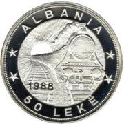 50 Lekë (Albanian Railroads) -  reverse