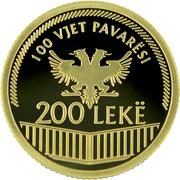 200 Lekë (100th Anniversary of Independence) -  reverse