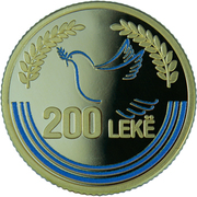 200 Lekë (Mother Teresa) -  reverse