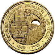 7500 Lekë (Albanian Railroads) -  obverse
