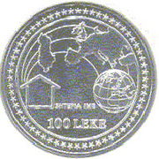 100 Lekë (European Integration) – reverse