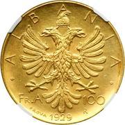 100 Franga Ari - Zog I (Prova) -  reverse
