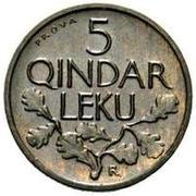 5 Qindar Leku (Prova) – reverse